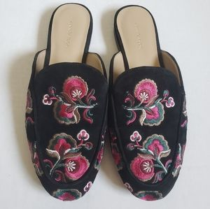 Ann Taylor Embroidered Mules